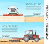 tractor  combine. agricultural... | Shutterstock .eps vector #435919561