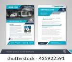 front and back page brochure... | Shutterstock .eps vector #435922591