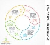 vector circle arrows linear... | Shutterstock .eps vector #435927415