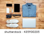 travel concept shoes  shirt ...   Shutterstock . vector #435930205