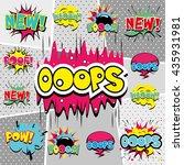 comics book background.... | Shutterstock .eps vector #435931981