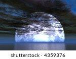 full moon behind clouds | Shutterstock . vector #4359376