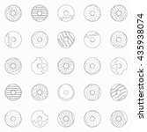 vector donuts seamless pattern. ... | Shutterstock .eps vector #435938074