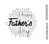 happy father's day calligraphic ... | Shutterstock .eps vector #435940039