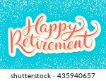 happy retirement banner. | Shutterstock .eps vector #435940657