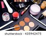cosmetics on dark background ... | Shutterstock . vector #435942475