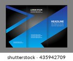 tri fold brochure design and... | Shutterstock .eps vector #435942709