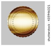 golden seal   on isolated... | Shutterstock . vector #435946321