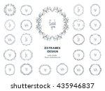 flower doodle frame. big... | Shutterstock .eps vector #435946837
