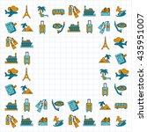 vector set of travel icons...   Shutterstock .eps vector #435951007
