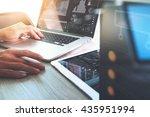 website designer working with... | Shutterstock . vector #435951994