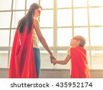 back view of mother and her...   Shutterstock . vector #435952174