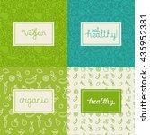 vector set of design elements ... | Shutterstock .eps vector #435952381