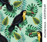 vector seamless pattern with... | Shutterstock .eps vector #435959149