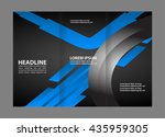 brochure mock up design... | Shutterstock .eps vector #435959305