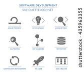 software development  solid ... | Shutterstock .eps vector #435963355