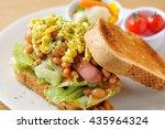 sausage sandwich | Shutterstock . vector #435964324