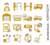 logistic icon set   Shutterstock .eps vector #435970279