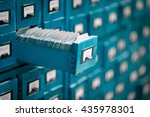 old library or archive... | Shutterstock . vector #435978301