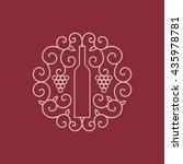 vector wine emblem. wine bottle ...   Shutterstock .eps vector #435978781