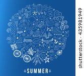 summer heart design made of... | Shutterstock .eps vector #435981949
