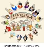 celebration event festive... | Shutterstock . vector #435983491