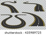 vector isolated curved roads in ... | Shutterstock .eps vector #435989725