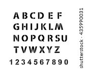 vector h alphabet with numbers | Shutterstock .eps vector #435990031
