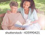 picture of helpful afroamerican ... | Shutterstock . vector #435990421