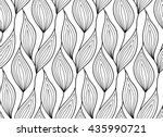 abstract vector seamless floral ... | Shutterstock .eps vector #435990721