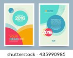 colourful annual report... | Shutterstock .eps vector #435990985
