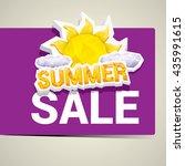 vector summer sale sticker .... | Shutterstock .eps vector #435991615