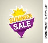 vector summer sale sticker .... | Shutterstock .eps vector #435991639