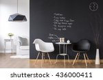 cosy coffee area in small flat... | Shutterstock . vector #436000411