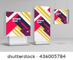 template for outdoor adverting...   Shutterstock .eps vector #436005784