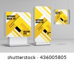 template for outdoor adverting... | Shutterstock .eps vector #436005805