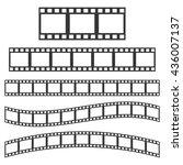 vector black film frame. film... | Shutterstock .eps vector #436007137