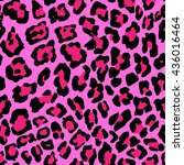 illustration of leopard print... | Shutterstock . vector #436016464