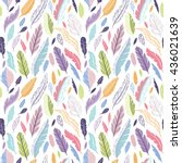 colorful cute vector seamless... | Shutterstock .eps vector #436021639