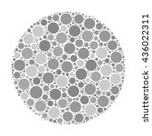 circle made of dots in shades... | Shutterstock .eps vector #436022311