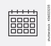 calendar icon | Shutterstock .eps vector #436023235