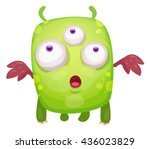 cartoon cute monster | Shutterstock .eps vector #436023829
