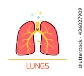 cute healthy lungs icon made in ... | Shutterstock .eps vector #436027909