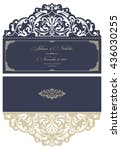 wedding invitation baroque.... | Shutterstock .eps vector #436030255
