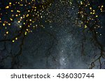 background with moon. | Shutterstock . vector #436030744
