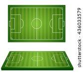 football field. sport icons.... | Shutterstock .eps vector #436033579