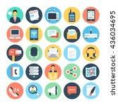 communication flat vector icons ... | Shutterstock .eps vector #436034695