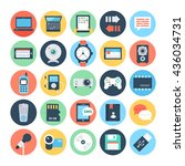 communication flat vector icons ...