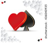 vector 3d symbol card games....   Shutterstock .eps vector #436040935