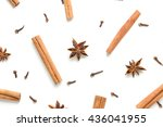 set of cinnamon  clove and star ... | Shutterstock . vector #436041955